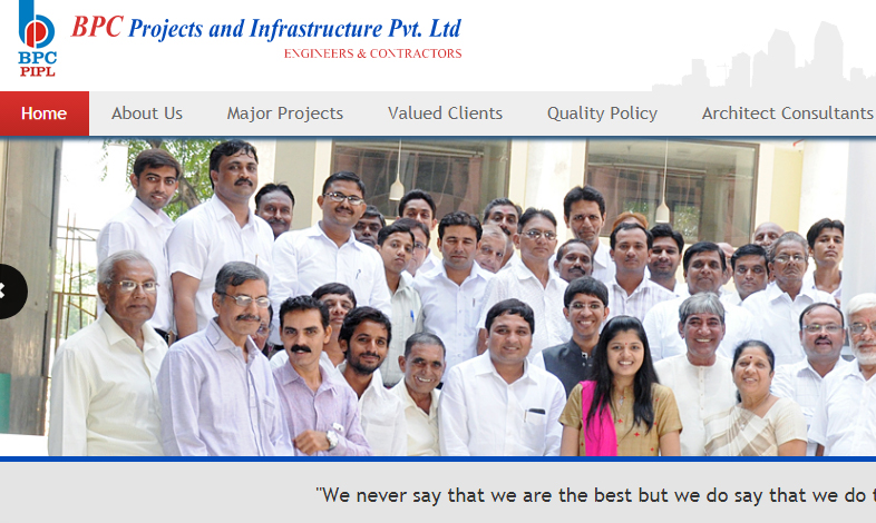 Infrastructure Website Design