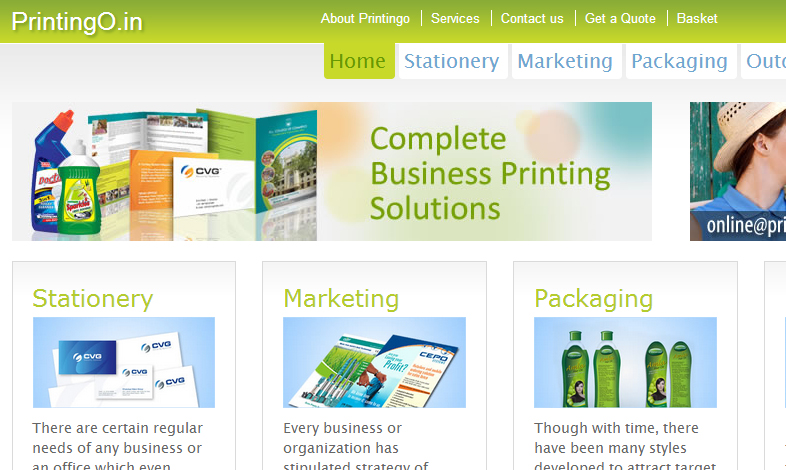 Online Print Shop Website