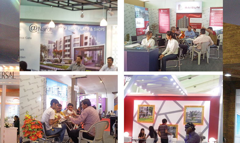 Real Estate Exhibition Stall : Exhibition booth design portfolio and fabrication kumbh