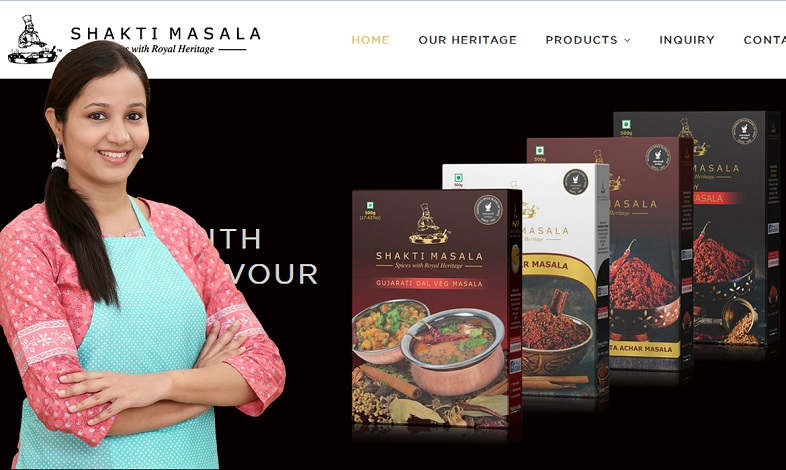 Spice Company Website Design