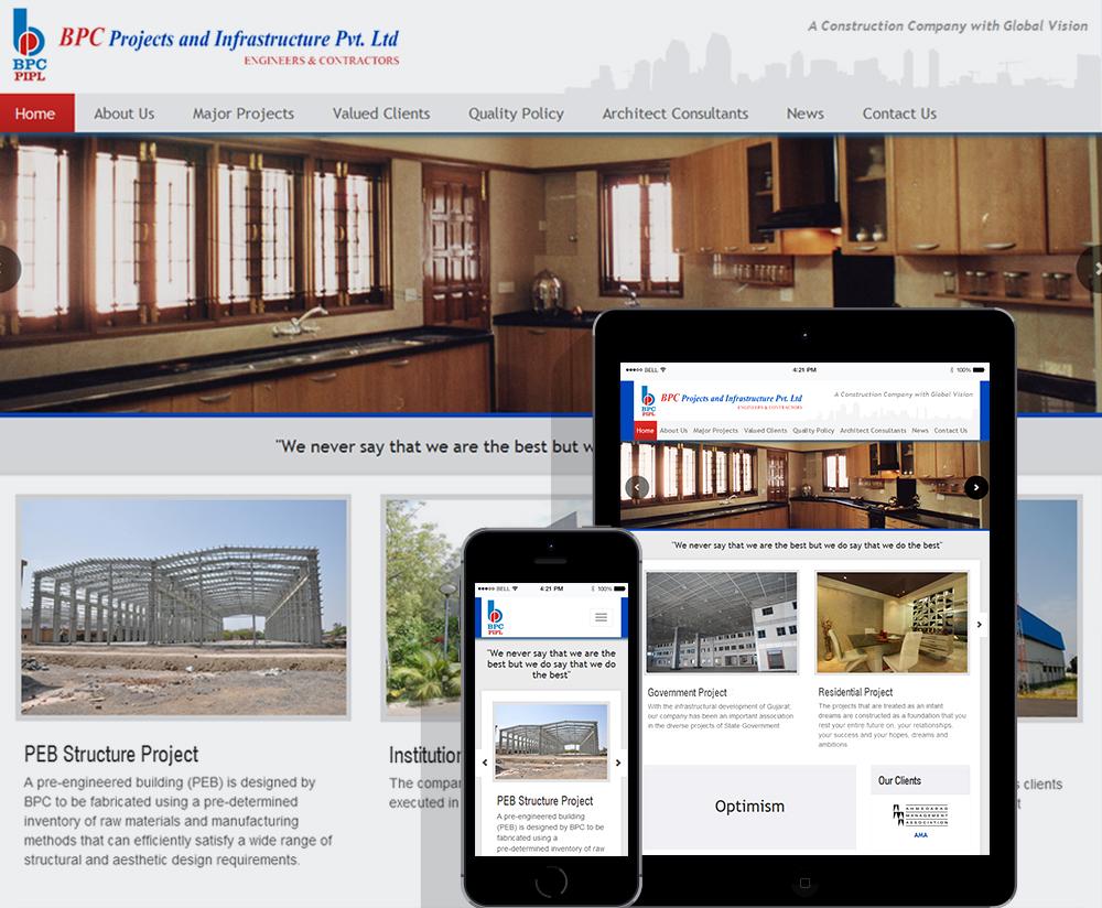Infrastructure website design