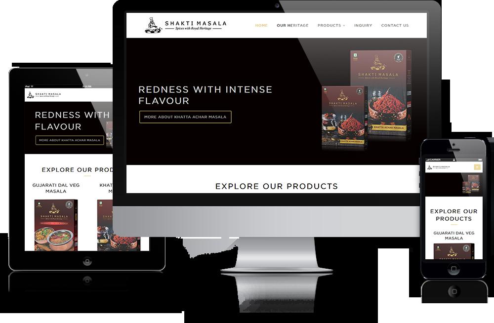 Spice Company Website Design