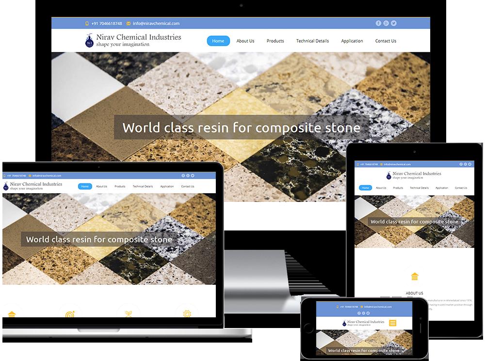 Chemical Company WordPress website