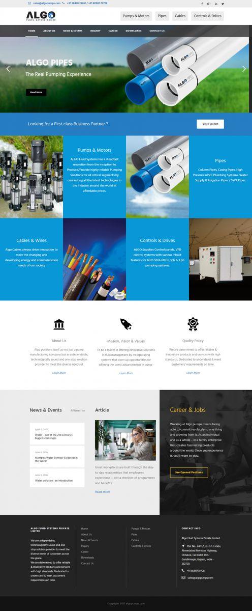 Engineering Company Website Development