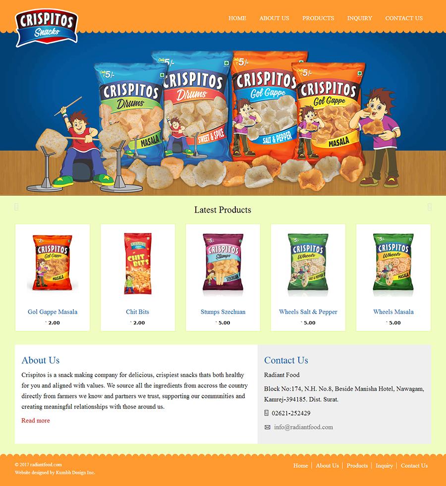Food Shopping Website Development