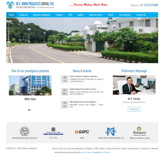 Infrastructure Projects Website