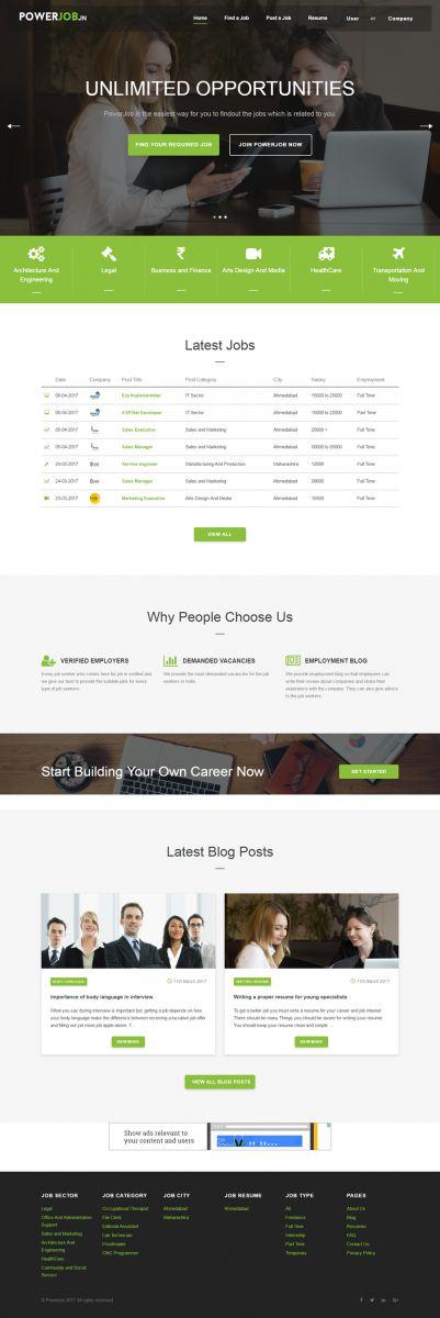 Laravel Job Portal Development