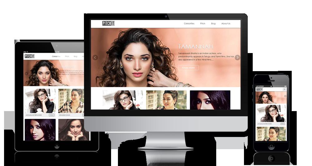 celebrities website design