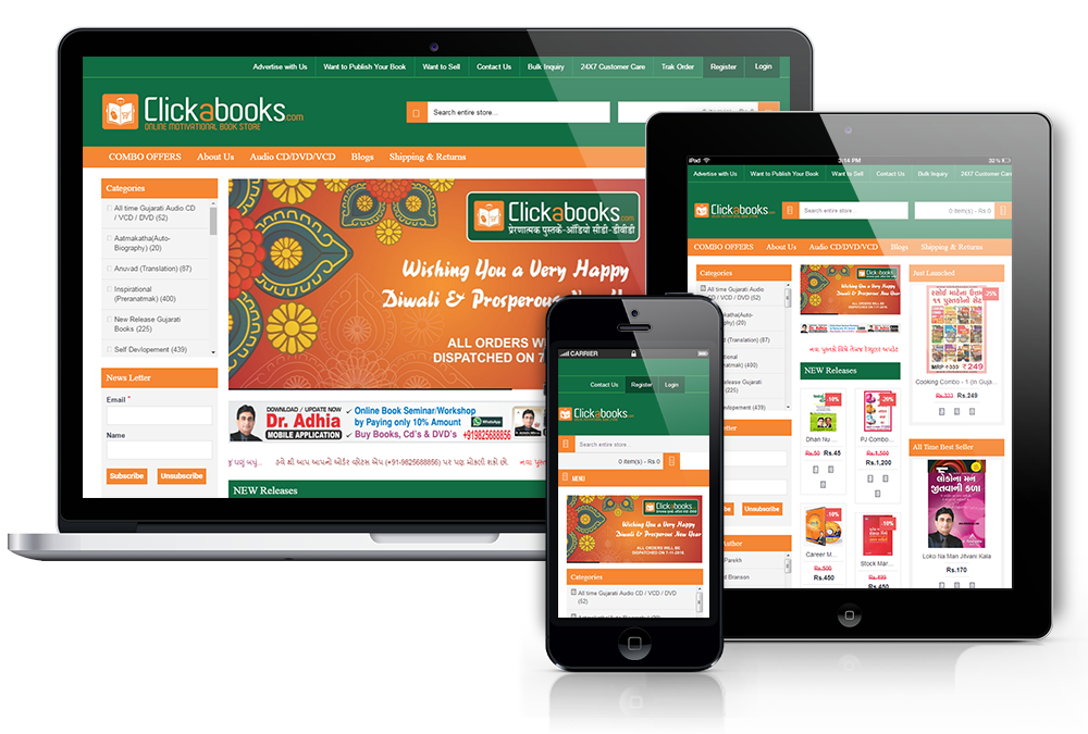 Online Bookstore Website Development