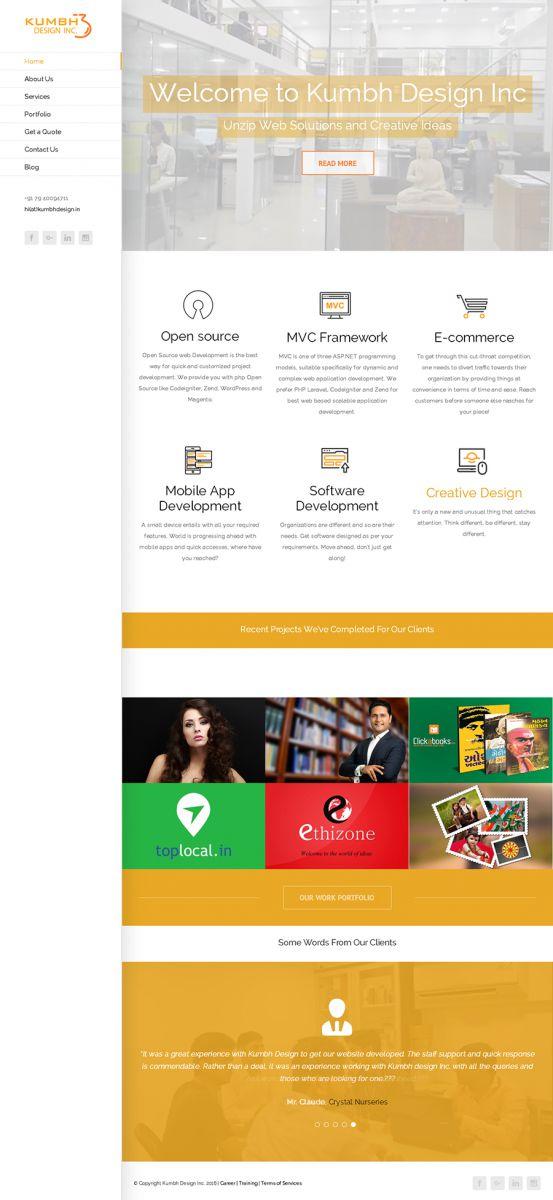 WordPress Portfolio Website Design