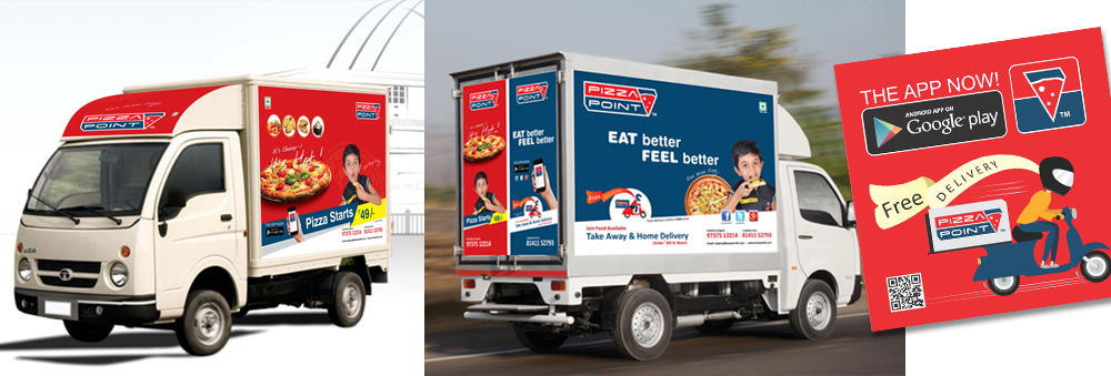 Delivery Vehicle Wrap Design for Restaurants