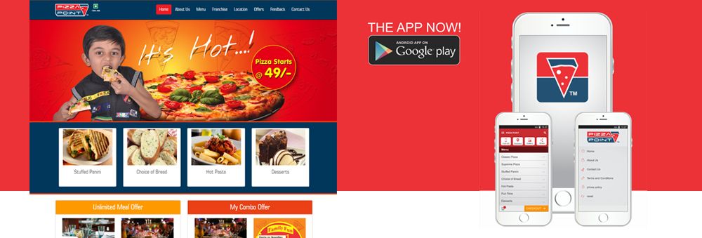 Restaurants Website Design and Android App
