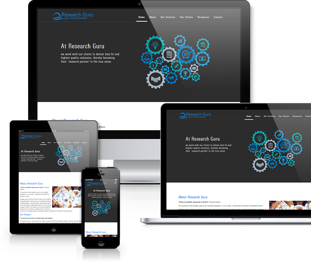 Single Page Responsive Website
