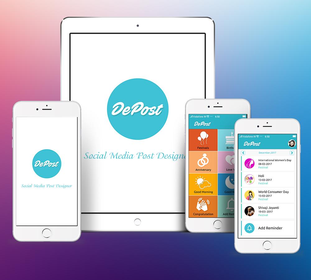Social Post Design App