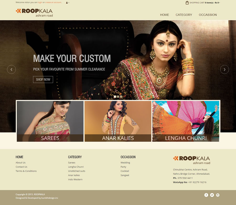 Women Fashion Shopping Cart Website Design